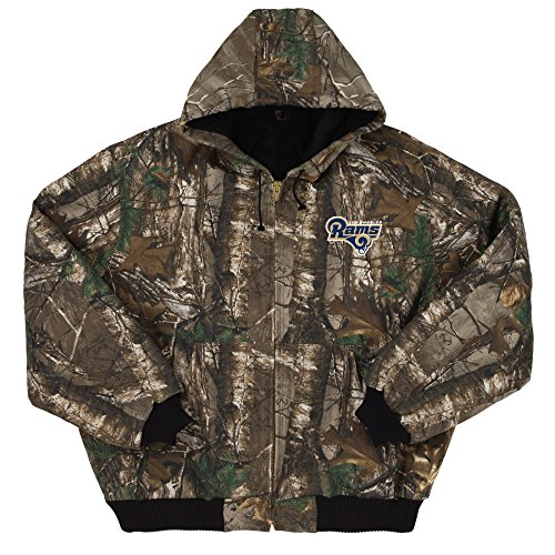 Dunbrooke Apparel NFL Los Angeles Rams Men's The Heavyweight Cotton Canvas Jacket, 3X, Realtree Xtra Camouflage