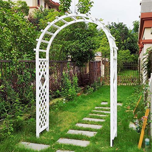 Arco Jardin de Madera, Arco de Enrejado, Pérgola de Jardín de Madera, Plantas Trepadoras, Arco de Rosas (Blanco)