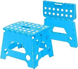 Multi Purpose Folding Step Stool kids Home Kitchen Easy Storage (Blue)
