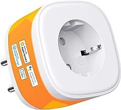 HomeKit wifi-stopcontact, Smart Plug, compatibel met Siri, Alexa, Google Assistant, spraakbesturing en instelbaar tijdsche...