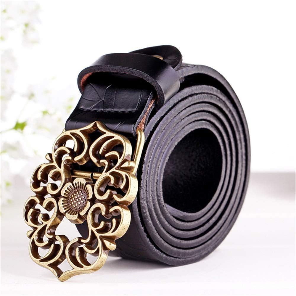 Large-scale sale HttKse Ladies Belt Women's Decor Button Attention brand Flower Vintage