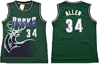 SKODATE Allen Jerseys Milwaukee 34 Jersey Green