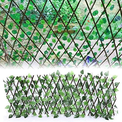 HYLL La expansión de Enrejado Valla con Hojas Cerca retráctil Plantas Artificiales ampliables proyectado terraza Exterior balcón de Paneles de Valla de protección para la decoración casero CER.
