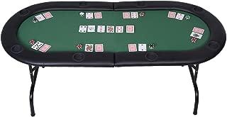 Mascarello Foldable 8 Player Poker Table Casino Texas Holdem Folding Poker Play Table