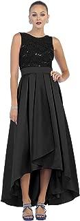 US Fairytailes Sleeveless Sequin High Low Satin Dress #21411