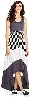 Mossimo Supply Co Women's Women's Hi Low Charcoal/Striped Long Dress