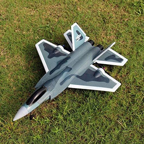 UimimiU Aeroplano de control remoto 2.4G Sistema de estabilización LED 6 CH DIY Ala fija EPP Aviones eléctricas incorporadas en 6 ejes Gyro Sistema Fácil de volar RC Aircraft Toys Toys regalos para ni