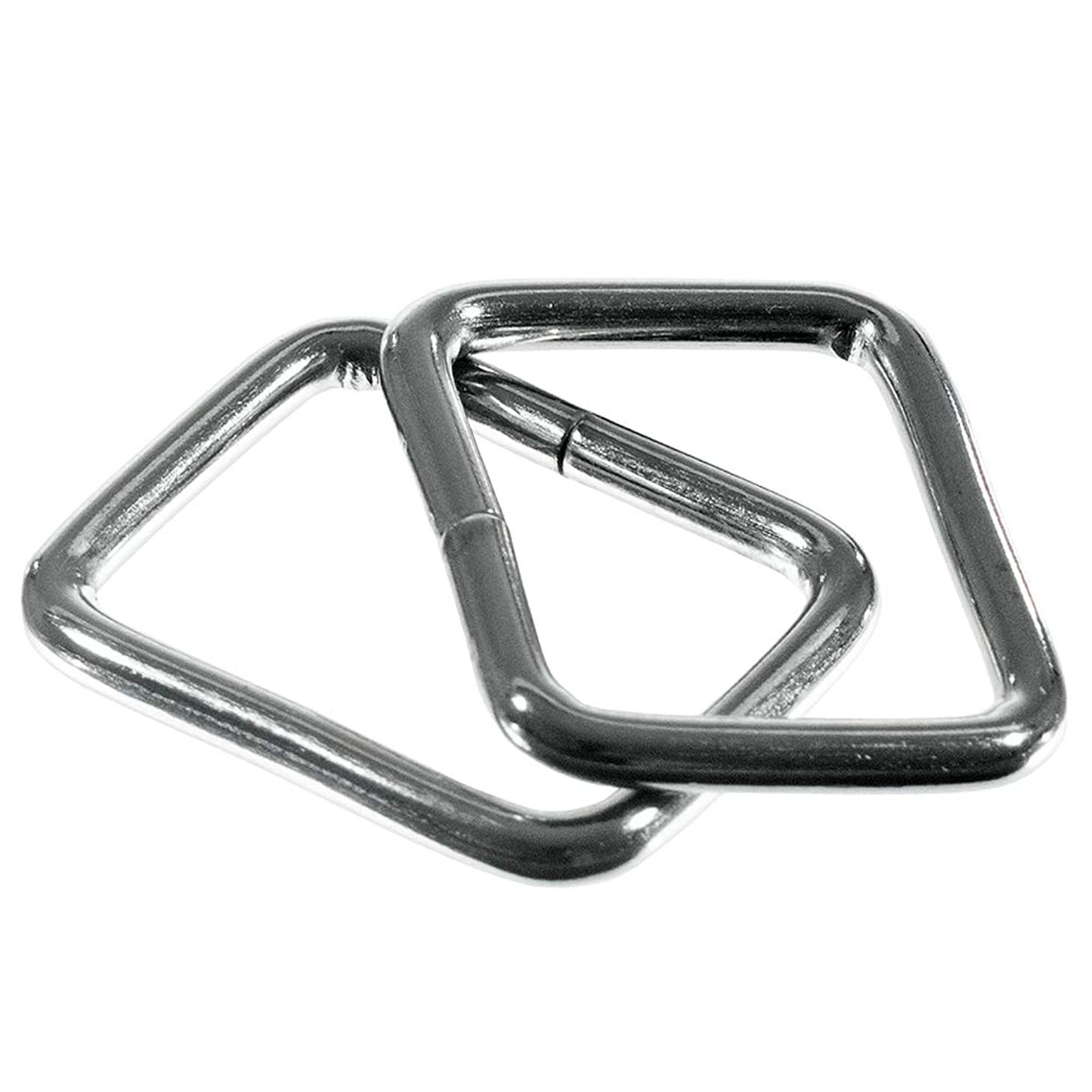Craft County Metal Rectangle Buckle Rings – Use for Bags, Belt Loops, Straps – Heavy Duty Rectangular Cord Loop – Fits Webbing 3/4-Inch Wide – Pack Size of 20 Pieces (3/4 Inch, Silver)