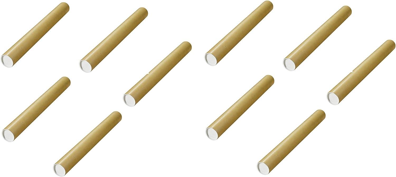 Herlitz Versandrohre mit vormontierten Verschlusskappen Ø 750x80 mm, braun (10 Stück   750 x 80 mm) B07P8R8PQ5    | Perfekt In Verarbeitung