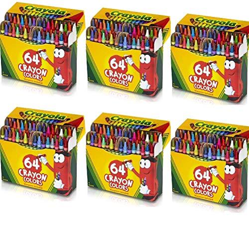 Crayola 6 Pack 64 Ct Crayons (52-0064), Assorted