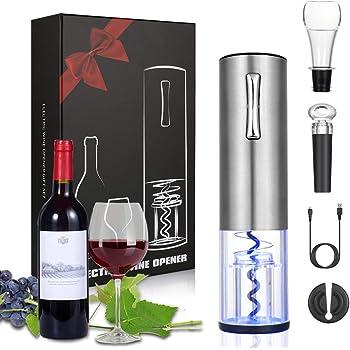 Gris argent Kitchen Bar Outils ouvre bouteille pour Vin,/Électrique de vin Alliage daluminium avec support de coupe d/étanch/éit/é D/écapsuleur Electrique pour Bartending Irady Tire Bouchon Electrique