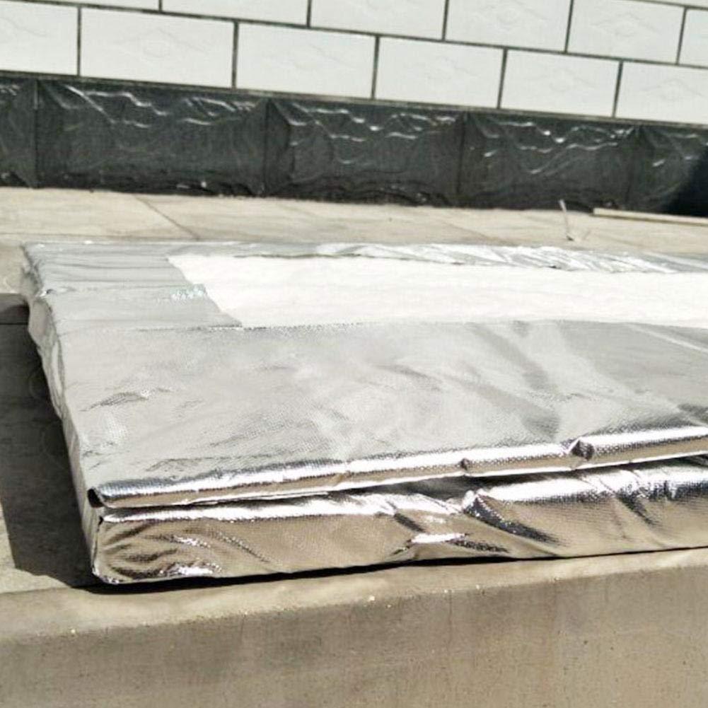 advancethy Manta Aislante de Fibra de cerámica de Aluminio con Aguja de Silicona de Alta Temperatura Aislante de algodón refractario Aislante algodón ignífugo Manta de algodón, 40 mm.: Amazon.es: Hogar