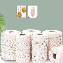 3mm 4mm 5mm 6mm Macrame Touw Natuurlijke Beige Katoenen Koord Twisted String Voor DIY Craft Handgemaakte Woondecoratie Bru...