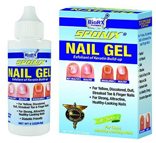 Sponix Nail Gel - For Yellow, Discolored and Dull Toe & Finger Nails - All Natural with Tea Tree, Peppermint, Jojoba and Aloe Vera Extracts - 2 oz