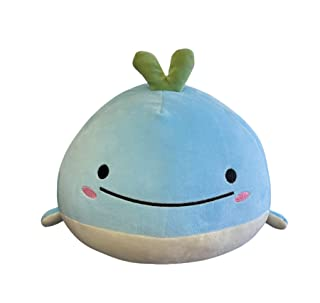 Snuggaboos Original Super Soft Plushie Pillow Toy - Wally The Whale Blue Squish Plush Pet - Cute Squishie Gifts for Kids L...