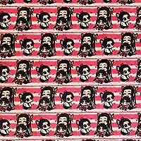 鬼滅の刃 幼少期 しのぶ&カナエ&カナヲ 生地 布地 はぎれ 70×48cm 素材:綿・ポリエステル ハンドメイドに