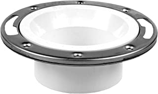Oatey 43495 Level Fit Closet Flange, 3 Or 4 In, Pvc, 3