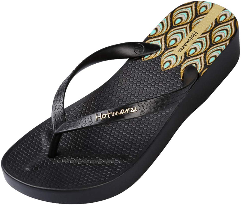 Women Wedge Low Heel Platform Flip Flops Wedges Slippers Ladies Summer House shoes Beach Thong Sandals