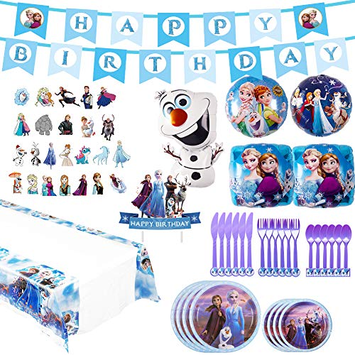 Best Review Of Frozen 2 Party Supplies Set - 82pcs Birthday Decorations,10-Kids Frozen 2 Theme Party...