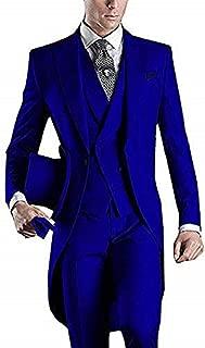 Men's Handsome 3 Pieces Tailcoat Suit Set Business Suit for Men 2018