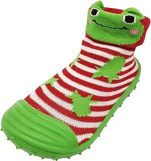 Chaussures Chaussettes Bébé Chaussons Antidérapant avec Semelle Chaussures Premier Pas Chaussons Souple Motif Animal Migno...