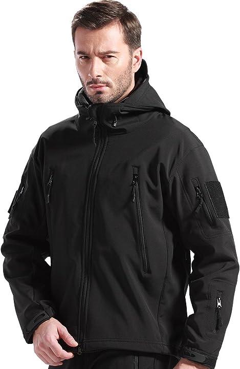 Giacca militare free soldier fodera in pile da esterno giacca antivento impermeabile con cappuccio 6925810017083