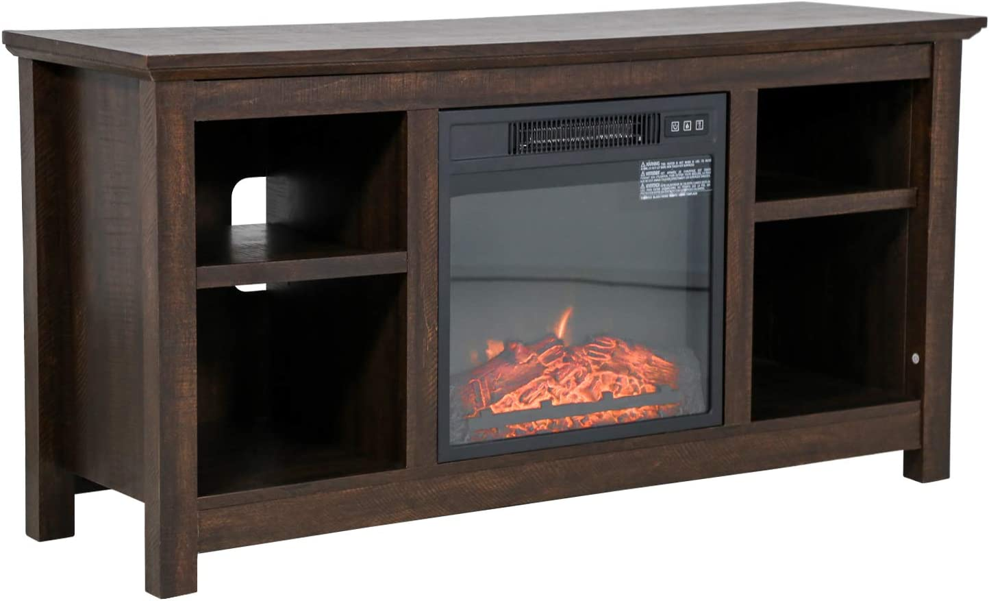 FDW Electric Fireplace TV Max 58% OFF Stand Wood Up 52