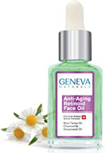 Retinoid Sleeping Night Oil - Natural Swiss Anti-Aging Formula with Blue Tansy Oil, Chamomile, and Grapeseed Oil for Men & Women - 1oz