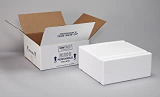 Polar Tech XM15C Thermo Chill Expand-em Series Insulated Carton with Foam Shipper, 10-5/8