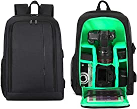 Multifunction SLR Camera Backpack,Large-capacity Waterproof Camera Bag For Sony Canon Nikon Tripod And Lens Can Accommodate 15.6in Laptop -31 18 44CM Green