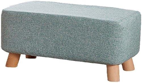 Envíos y devoluciones gratis. ZKKZ-Salón Taburete Taburete Taburete para pies Pouffe Cubierta de Lino extraíble de Madera Cambio de Zapato Taburete-28cmx26cmx60cm (Color   azul)  más orden