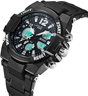 Men's Sport Watch Waterproof Digital Watch for Men and Boys Casual Watch with Resin Band