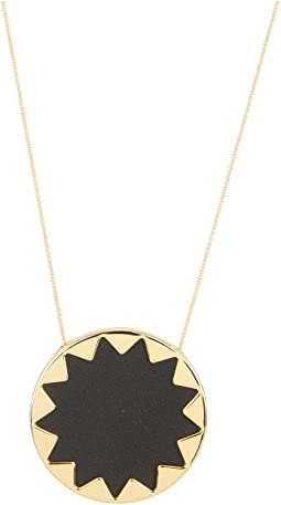 House of Harlow 1960 - Sunburst Pendant with BlackLeather