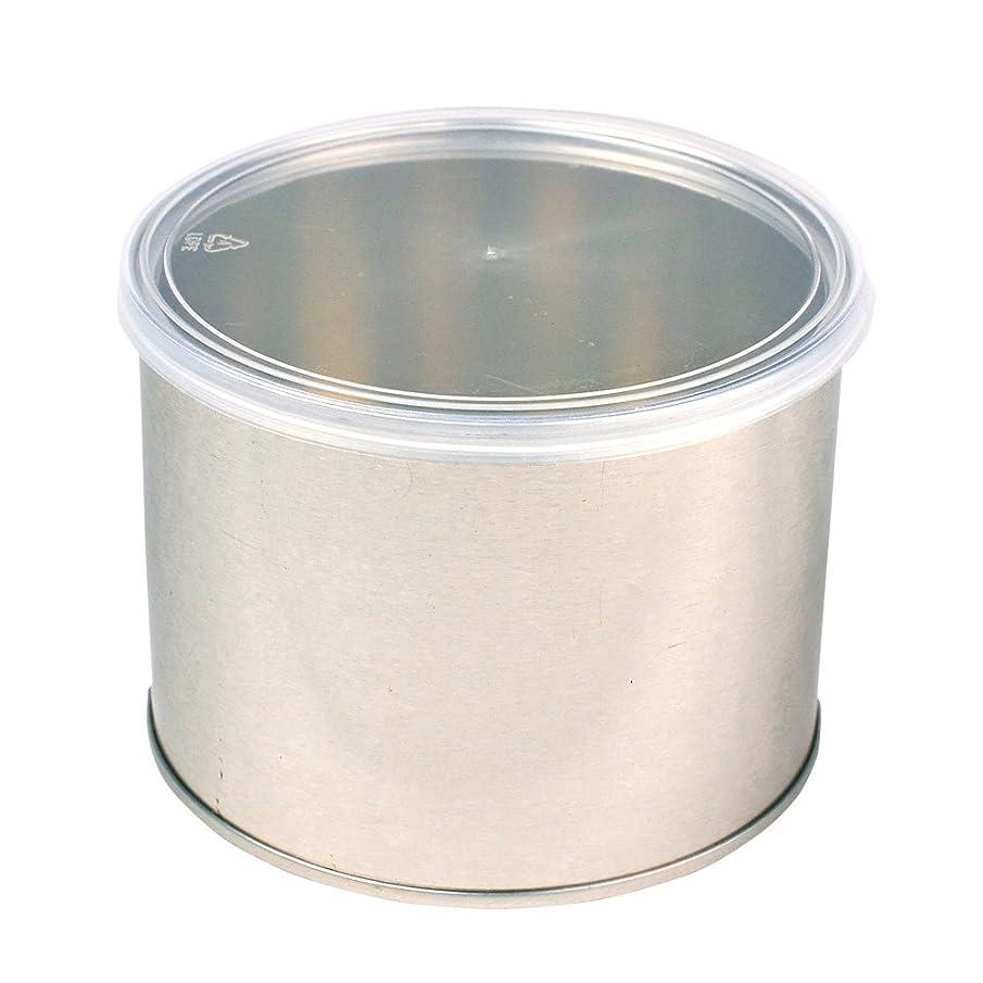 冷酷な仕立て屋好意ワックス脱毛用スチール缶 ハード?ソフト両用 キャップ付 1個(032-1) ブラジリアンワックス