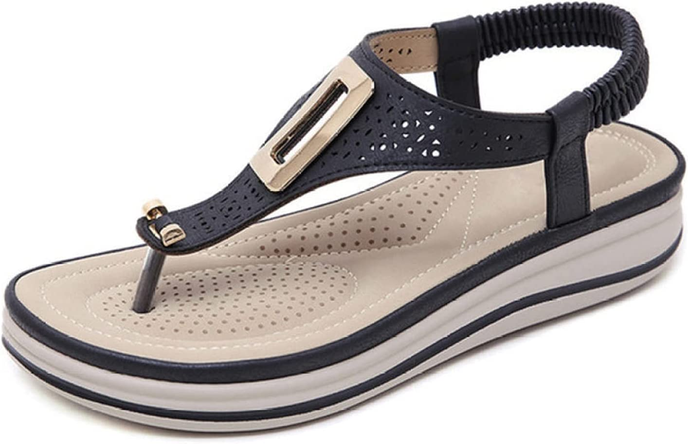 BAIMENGLONG specialty SEAL limited product shop Sandals Ladies Fashion Leather Summer Metal