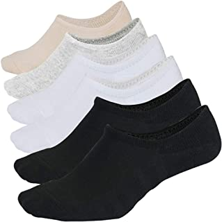 No Show Socks For Women Cushion Athletic Cotton Non Slip Low Cut Flat Liner invisible Socks 6 Pack