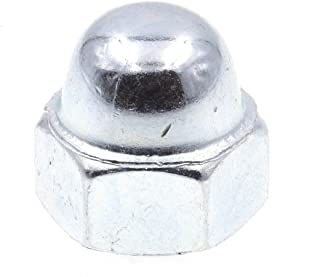 Nickel Plated Clipsandfasteners Inc 100 #10-24 X 3//8 Steel Acorn Cap Nuts