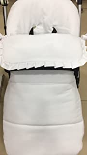 Saco silla bugaboo camaleon 2 y 3 pique abeja blanco