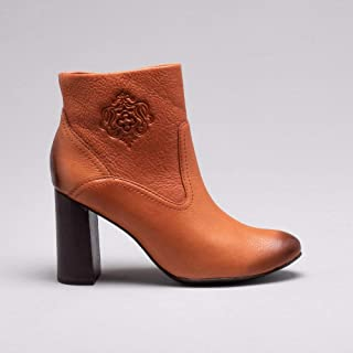 Ankle Boot Couro Cognac