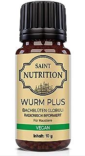 Saint Nutrition® Veganes Wurm Globuli für Tiere - die Wurmkur Alternative für Hunde + Katzen, Entwurmung sowie natürliche Ernährung für Hund & Katz