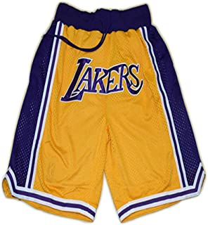 Men's and Women's Basketball Shorts, Suitable for The Lakers and Bulls Game Shorts, Breathable Loose Fabric, Quick-Drying