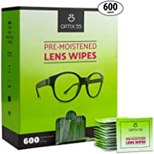 Eyeglass Cleaner Lens Wipes - 600 Pre-Moistened Cleaning Cloths - Glasses Cleaner Wipe Safely Cleans Eye Glasses, Sunglasses, Screens, Electronics, Computer Monitor and Camera Lense   Streak-Free