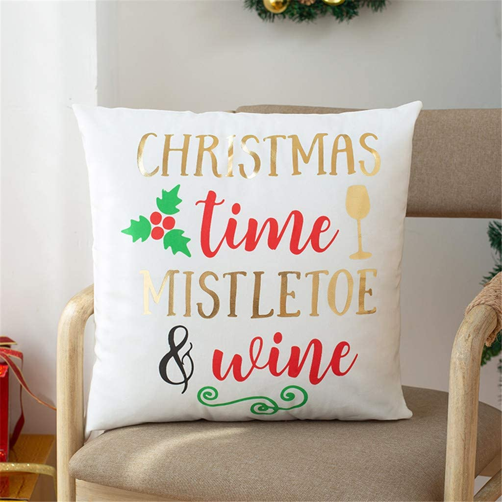 UNBRUVO Max Our shop OFFers the best service 47% OFF Holiday Throw Pillow Decoration Christmas Covers