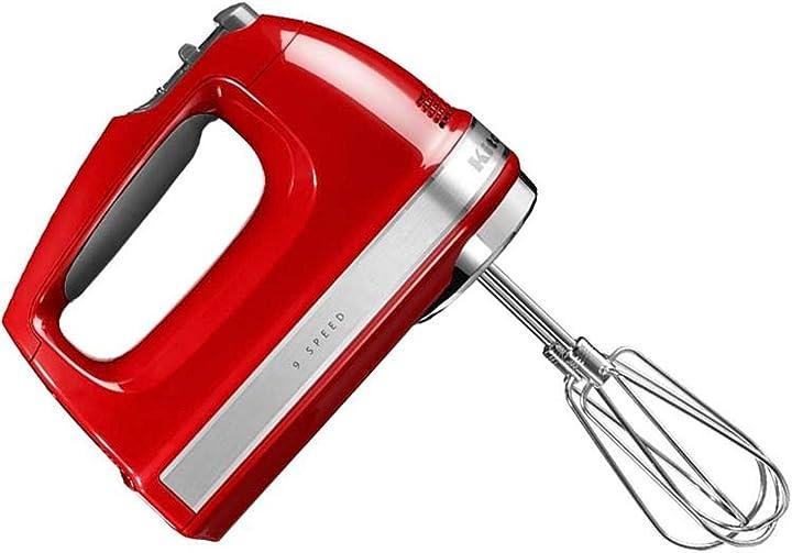 sbattitore kitchenaid a 9 velocità colore rosso imperiale 5khm9212 5khm9212eer