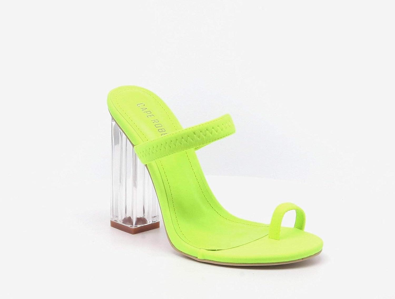 Cape Robbin Macaroon Women's Block Chunky High Heeled Sandals