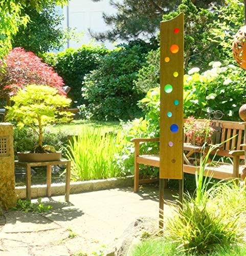 Gartenskulptur aus Holz und Glas