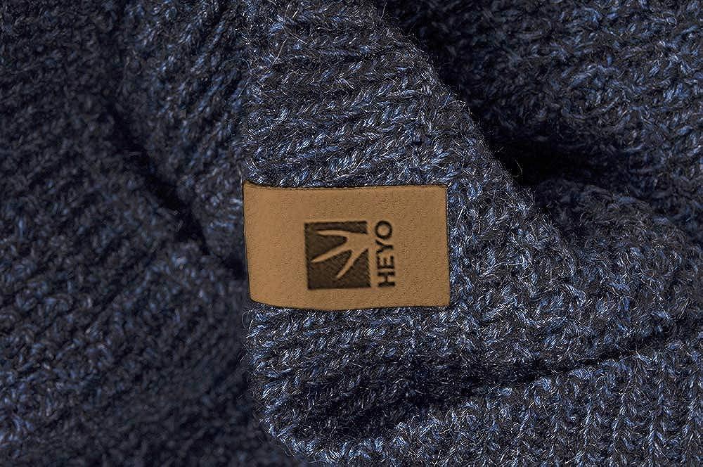 warmes Strickschal weiches gestricktes Schlauchschal HEYO Rundschal H16025 Winter Loop Schal f/ür Herren