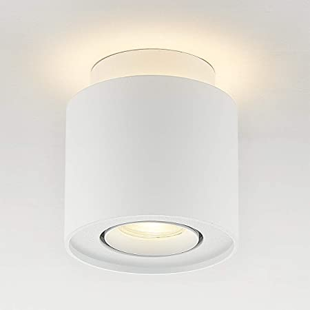 Budbuddy 6+5W Plafonnier Spots LED Applique de Plafond Barre de Spots Orientable GU10 mode Spots de Plafond spot plafonnier pour Interieur chambre salon cuisine bureau