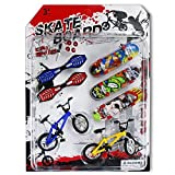 TKOnline Party Favors Educational Finger Toy Mini Finger Sports Skateboards/Bikes/Swing Board with Endoluminal Metallic Stents(Send Components and Parts) Skateboards,Finger Skateboard,Finger Board