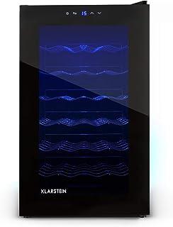 comprar comparacion Klarstein MKS-2 Cava - Nevera para vinos, capadidad 28 botellas equivalente a 70 Litros máx, 6 Estantes, panel de control ...